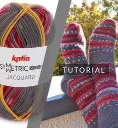 Knitting socks: this is how you get a perfect pair with Jacquard Symmetric Socks Knit Mittens, Knitting Socks, Knitted Hats, Knit Socks, How To Make Socks, Learn How To Knit, Knitting Patterns Free, Free Knitting, Crochet Patterns
