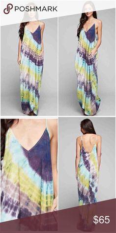 Spotted while shopping on Poshmark: 🆕LISTING! NWT Citrine/Purple Tie Dye Maxi Dress! #poshmark #fashion #shopping #style #Dresses & Skirts