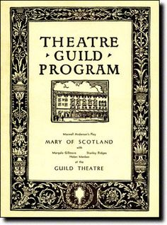 Mary of Scotland starred Helen Hayes.  Opened in late 1933 at the Alvin Theatre.