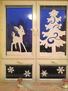 Xmas Window Decorations, Christmas Window Display, Christmas Paper Crafts, Christmas Crafts, Diy And Crafts, Crafts For Kids, Swedish Christmas, All Things Christmas, Art For Kids