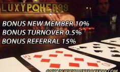 Luxypoker99.co adalah sebuah situs poker online yang memiliki banyak fitur terbaik dan banyak bonus menarik bagi anda pemain poker online indonesia.