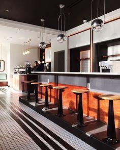 Breakfast club with jordan h ruska this morning. via pjmattan Hotel Interiors, The Breakfast Club, Cottage, Restaurant, Bar, Kitchen, Table, Furniture, Hospitality