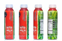 WTRMLN WTR Packaging Reshapes a Sweet Natural Treat Around a Bottle #green #branding trendhunter.com