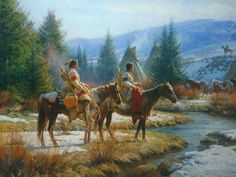 horse Indian river art sky forest beautiful nice