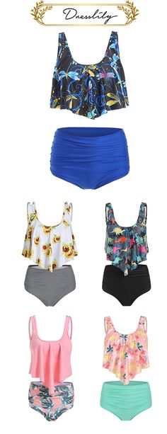 A variety of options to buy, choose the most suitable  for you. Enjoy 12% off: $3+ off $35+ with code DL123. #dresslily #swimwear #tankini Retro High Waisted Bikini, High Waisted Bikini Bottoms, Swimsuits For Teens, Swimwear Sale, Suits For Women, Tankini, Women's Fashion, Boutique, Clothes