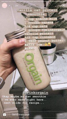 Healthy Tips, Healthy Choices, Healthy Food, Healthy Eating, Yummy Food, Healthy Recipes, Vanilla Smoothie, Smoothie Bowl, Smoothie Recipes