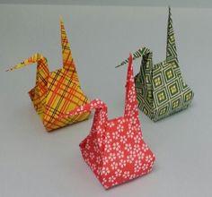 お福分け鶴 | 折り紙の楽しみ Origami And Kirigami, Origami Box, Paper Crafts Origami, Origami Cranes, Origami Videos, Useful Origami, Diy Projects To Try, Diy And Crafts, Crafty