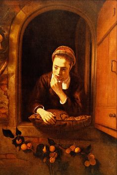 Nicolaes Maes - Girl at a Window