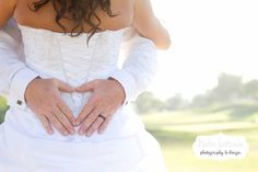 Heart wedding photo