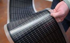 Flexible solar cell sheets can go anywhere and collect 95% of available solar energy! #solarpanels,solarenergy,solarpower,solargenerator,solarpanelkits,solarwaterheater,solarshingles,solarcell,solarpowersystem,solarpanelinstallation,solarsolutions,solarenergysystem,solarenergygeneration Thin Film Solar Panels, Solar Energy Panels, Best Solar Panels, Le Colorado, Solar Roof Tiles, Solar Projects, Solar House, Solar Charger, Panel Systems
