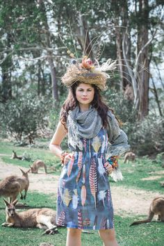 Printed Linen dress, fashion Shoot Into The Wild by Emma Leslie Photography  Summer 15/16 Sustainable Fashion Wild at heart, ethical by nature!