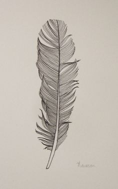 Black Feather 3 -- original ink drawing (not mine) -Love this piece, detailed but subtle. Very pretty
