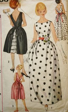 Vintage Sewing Pattern  1960s Evening