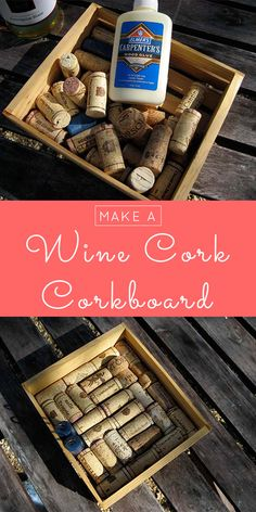 Here's how to make a cork boak board from wine corks! You only need three craft supplies to make it, and one of them is free! Fun Crafts, Diy And Crafts, Diy Cork Board, Cork Material, Green Craft, Wine Cork Crafts, Pop Bottles, Wine Corks