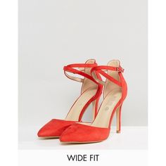 Truffle Collection Wide Fit Bow Trim Court Shoe ( 42) ❤ liked on Polyvore  featuring shoes 1365351d7561