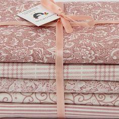 """Kit de tecidos """"Pó de Arroz"""" (rosé)"""