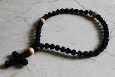 Modern Coptic/Ethiopian prayer rope (mequtaria) made by Phillip Rolfes (smaller type). Orthodox Prayers, Prayer Beads, Knot, Faith, Type, Bracelets, Modern, Leather, Jewelry