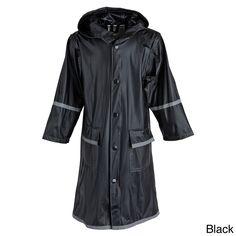Best Big Girls' Kids Waterproof Long Hooded Raincoat Jacket