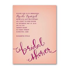 40% OFF  Swirly Words - Bridal Shower Invitation  http://mediaplus.carlsoncraft.com/Wedding/Bridal-Shower-Invitations/3254-TWS37589-Swirly-Words--Bridal-Shower-Invitation.pro