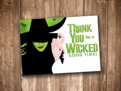 Wicked Thank You Card *Instant Digital Download* by appacadappa on Etsy