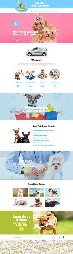 Template 56074 - Mobile Pet Responsive Website Template