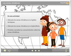 """""""Las zonas climáticas"""" es un juego, de imactiva.cl, en el que se prueba el conocimiento sobre las zonas climáticas de la Tierra en Educación Primaria."""