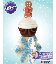 Make your holidays sweet with candy treats from @Wilton Cake Decorating Cake Decorating!  This gingerbread gumdrop, cupcake truffle and candy snowflake are so cute and delicious!
