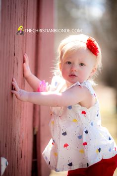 Rustic, Red, Barn, One, Year, Old, First, Rustic, Red, Barn, April Showers Bring May Flowers, Photoshoot, Photo Shoot, Photo Props, Photo Ideas, Photography, Umbrella, Old Navy, Kohls, Corduroy, Shabby Chic Headband, Toddler, Baby, Girl, Child, Pics, Blonde, Blondie, Outside, Outdoor, Barefoot, Girly, Cute, Pretty