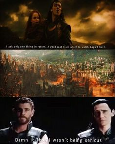 Loki didn't even have that seat. Personally, I think all of Asgard knew of the legends of Ragnarok from childhood. So Loki was alluding to the end-of-days, but didn't mean that he would actually want to enact it. I love how in Ragnarok, it was Thor's idea to start Ragnarok, and even though Loki did it, he did it for Thor and the people of Asgard, not because he WANTED to. You could see it on his face. </3