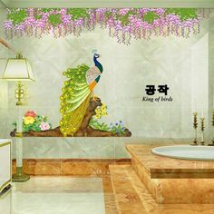 Simple Peacock Pattern Home Decoration Decorative Wall Stickers