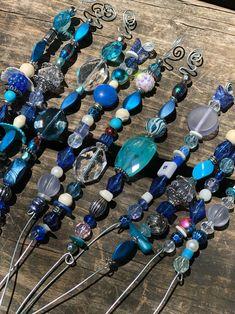 SALE Set of Three Fairy Garden Totems Peacock Mermaid Blue image 3 Garden Totems, Glass Garden Art, Garden Stakes, Glass Art, Tinkerbell, Fairy Wands, Little Gardens, Modern Garden Design, Modern Design