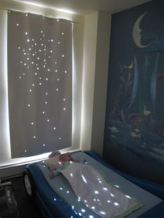 Twinkle Curtain. star cut outs. love it