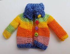Arco iris chaqueta chaqueta abrigo de punto para por Mitilene