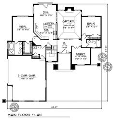 House Floor Plan for #72497 - Craftsman Home Plans