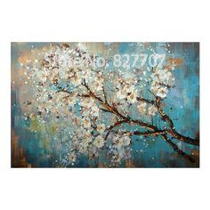 Dipinta a mano astratta moderna decorazione della parete della pittura a olio del fiore su tela immagini per living room vernice