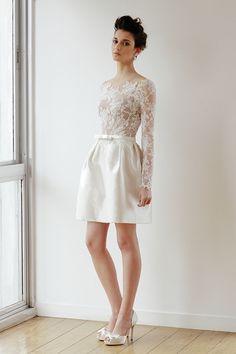 vestido de noiva curto - noivado - casamento civil ( Vestido: Wanda Borges | Beleza: Agência First )