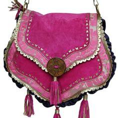 Cool Purple Suede Boho Bag