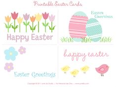 Free Printable Easter Cards junelilystudio