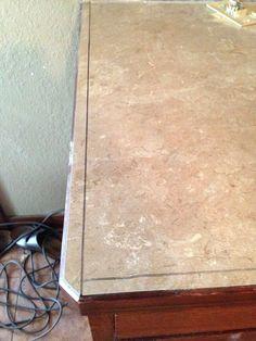 DIY Concrete Counters Poured Over Laminate