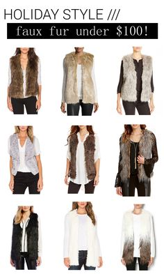 9 Faux Fur Vests Under $100
