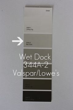 WET DOCK {Valspar/Lowe's} – This color is still in the gray family but has a creamy tone to it. Grey Wall Color, Grey Paint Colors, Gray Paint, Interior Paint Colors, Wall Colors, Colours, Valspar Gray, Valspar Colors, Grey Family Rooms