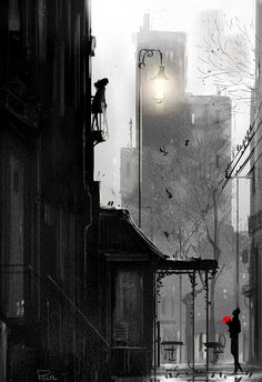 lot like hot chocolate on a rainy day. by Pascal CampionA lot like hot chocolate on a rainy day. by Pascal Campion Pascal Campion, Buch Design, Famous Artists, Rainy Days, Amazing Art, Illustrators, Fantasy Art, Cool Art, Concept Art
