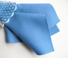 Wool Felt Square  Wedgwood Blue by FeltOnTheFly, $6.00 - today only!  Flash Sale!