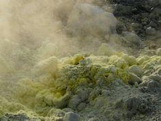 Smoke Papandayan Volcano Garut West Java