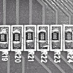 Line of Resistors #macroofmysteriousobject #macrophotography #macro #abstract