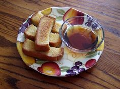 French Toast Sticks - OAMC from Food.com: I got this basic recipe from another site but changed it a little for my family. The original recipe called for orange juice as the liquid instead of milk. I also added the vanilla as we think it gives it a nice flavor.