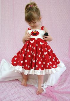 Elmo dress- my twins would look adorable in this!!!