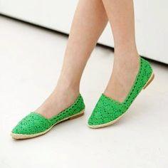 lace flat shoes