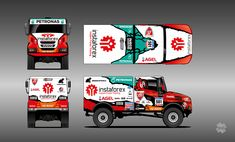 Instaforex Loprais Team De Rooy - Aleš Loprais (Iveco PowerStar offroad) - design for Dakar 2016 4x4, Off Roaders, Rc Trucks, Paper Models, Cars And Motorcycles, Race Cars, Buildings, Track, History