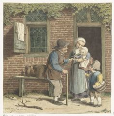 Grandfather hands out toys. Dutch Painters, The Old Days, 18th Century, Holland, Old Things, Community, History, Artwork, Historia